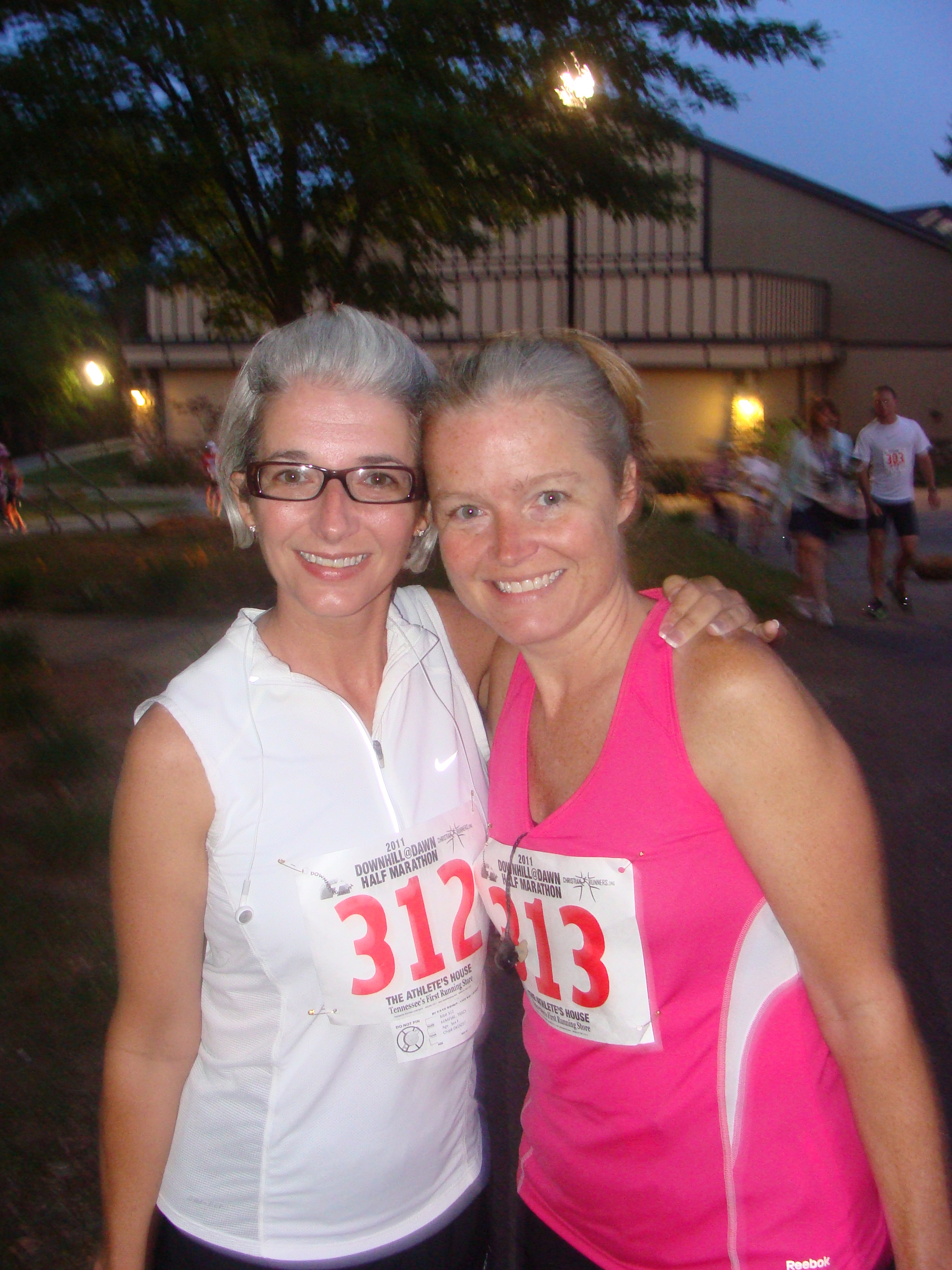 This is my sister, Tracy, and me before our first Half-Marathon